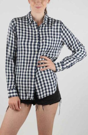 Čiernobiela dámska košeľa Levi's s drobnou kostičkou
