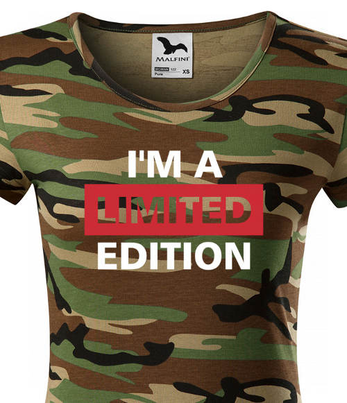 Dámske army tričko s nápismi