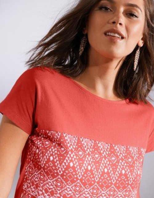 Dámske dvojfarebné tričko s potlačou