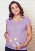 Dámske tehotenské tričko s odtlačkami