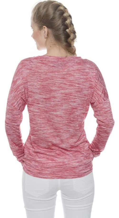 Eplé dámske tričko s ružovým žíhaným vzorom