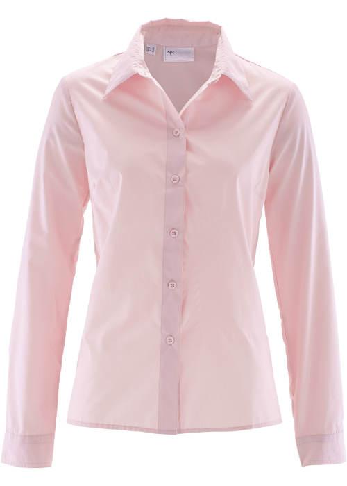 Jednofarebná ružová dámska košeľa