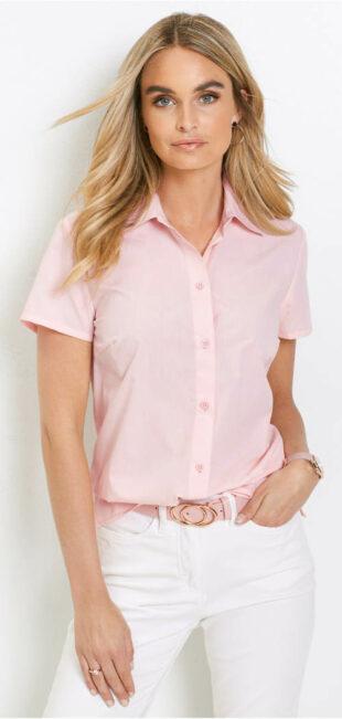 Lacná dámska košeľa s krátkym rukávom