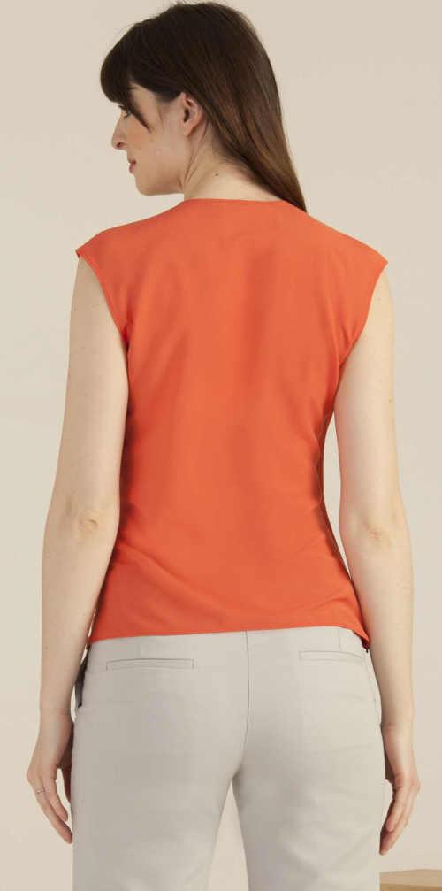 Oranžové spoločenské tielko