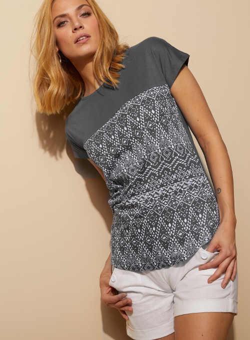 Pohodlné dámske tričko s potlačou