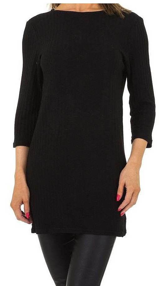 Čierna svetrové tunika k legínam