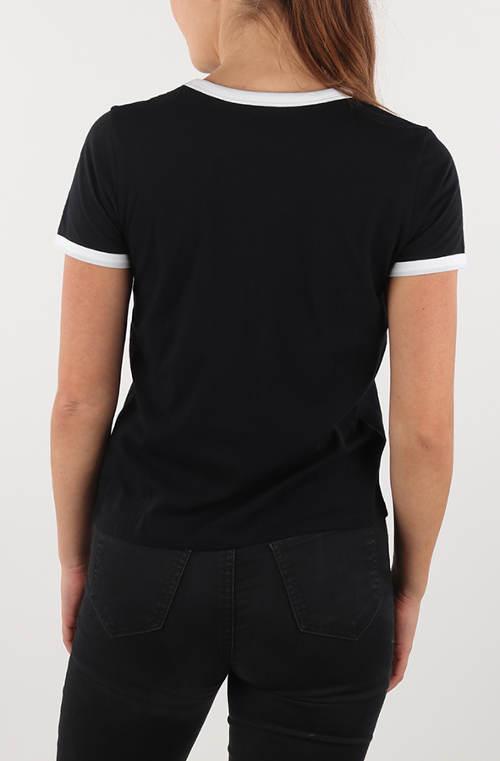 Čierne dámske tričko Vans s krátkym rukávom