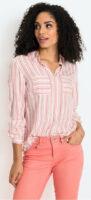 Pruhovaná dámska košeľa s vreckami
