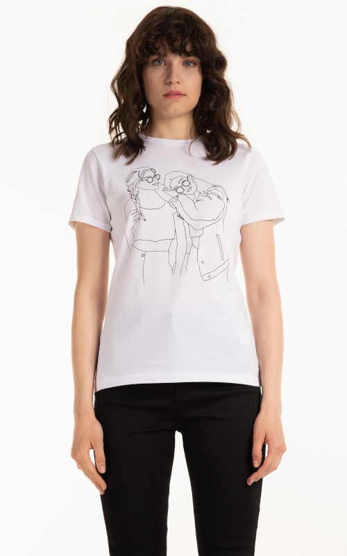 Bavlnené tričko s krátkym rukávom s grafickou potlačou