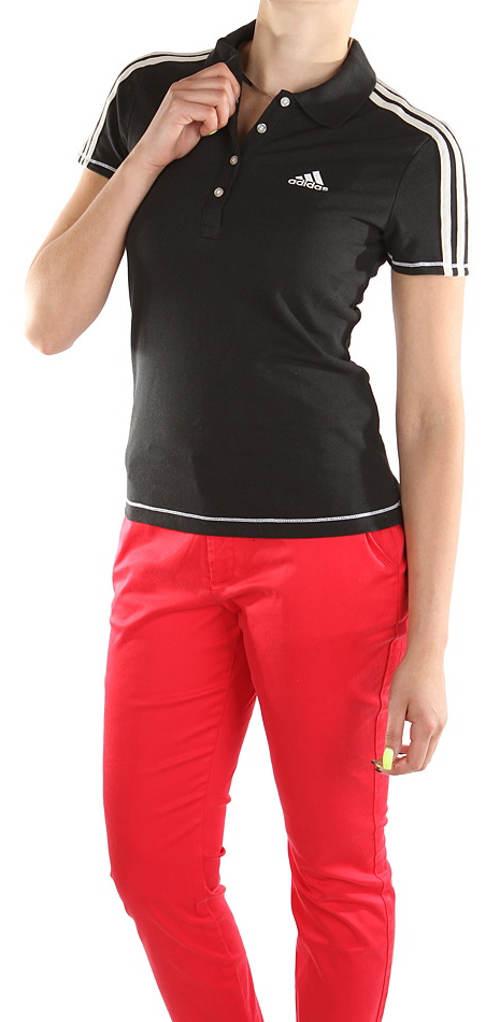 Dámske čierne polo tričko Adidas