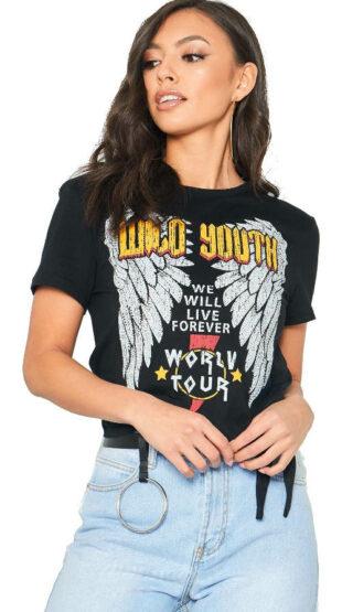 Kovové tričko Rebel s potlačou