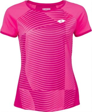 Dámske športové ružové tenisové tričko s krátkym rukávom