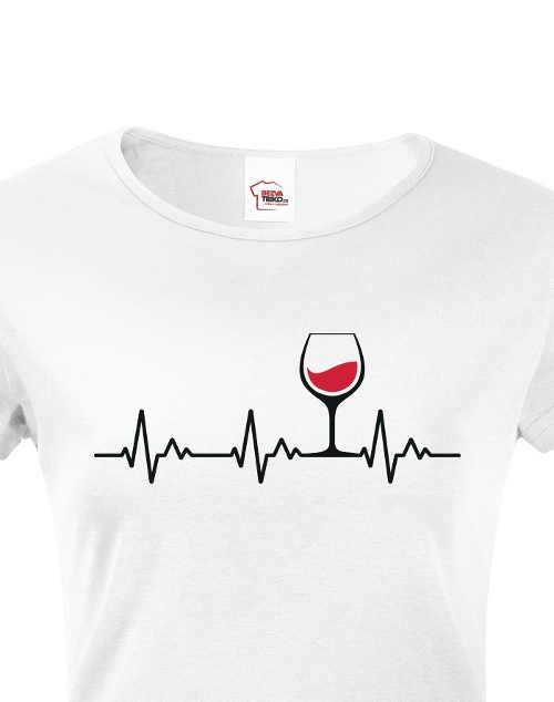 Dámske tričko s humorným motívom z kvalitného materiálu