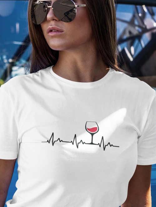 Dámske tričko s vtipným motívom z príjemného materiálu