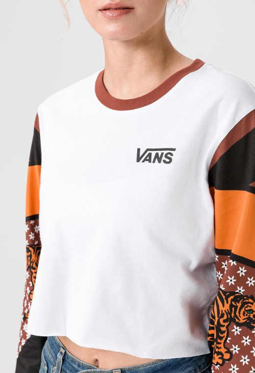 Dizajnové moderné tričko s dlhým rukávom